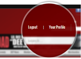 your profile' link placement