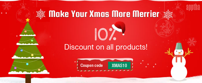 10% Flat Discount on All Apptha Products - 2014 Christmas/New Year ...