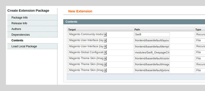 Create Extension Package
