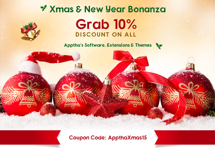 Christmas & New Year Bonanza: Apptha Offers 10% Discount | apptha