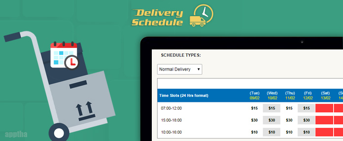 Magento Delivery Schedule
