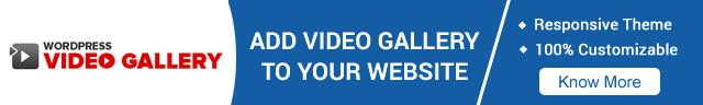Get WordPress Video Gallery