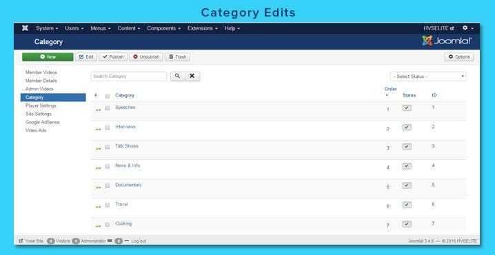 Category Edits