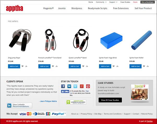 Homepage Display