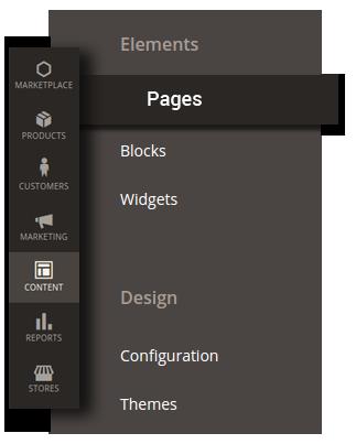 Menu Content Pages