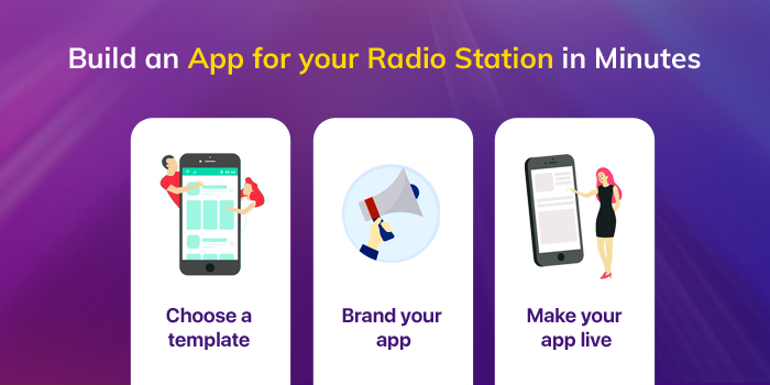 Make radio station app
