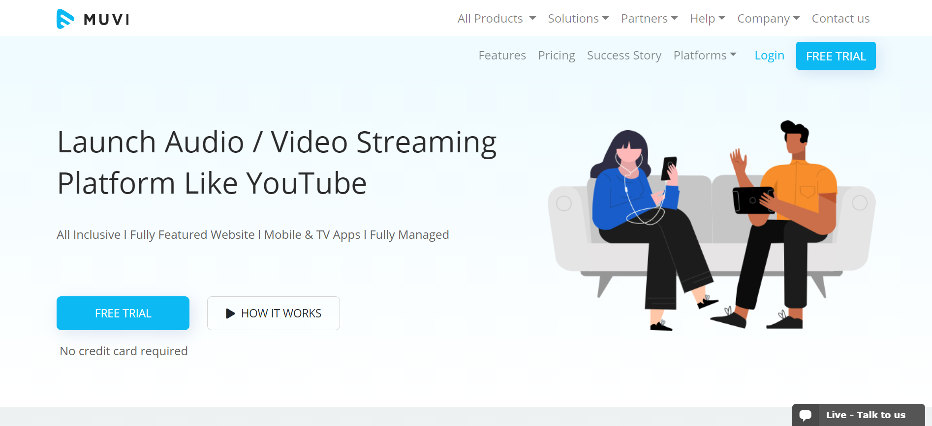 Muvi video streaming solution
