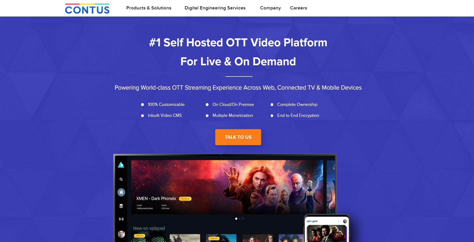contus vplay OTT software